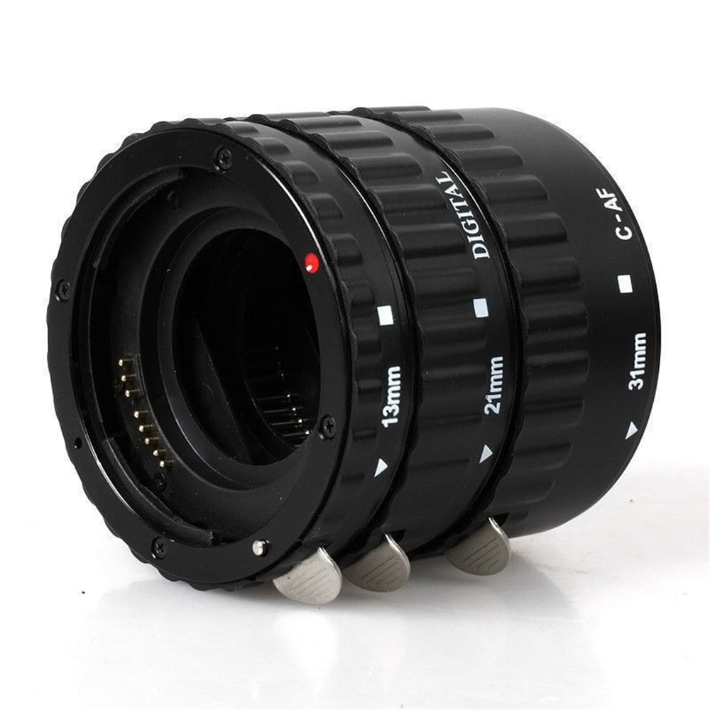 RONSHIN Metal Mount Lens Adapter Auto Focus AF Macro Extension Tube Ring for Canon EOS EF-S Lens 750D 80D 7D T6s 60D 7D 550D 5D Mark IV Black