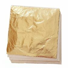 """L.A Variegated Leaf #18  5½/"""" x 5½/"""" Gold Leaf 1 Booklet = 25 sheets"""