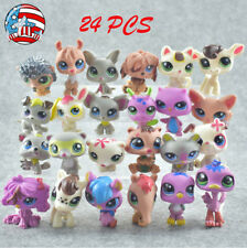 Littlest Pet Shop LPS #2100 Toy Cute Pink Fox Puppy With Blue Eyes Girl Gift Toy