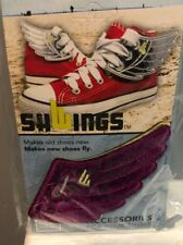 SHWINGS Black Sparkle Heart clip on for shoes designer Shwings NEW 13101