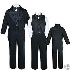 Kid Child Teens Boy Baptism First Communion Church Formal Tuxedo Suit White 5-20