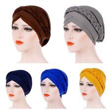 Femmes Lady Inde musulmane tresse tête hijab Turban Wrap Cover Cancer Chimio Chapeau