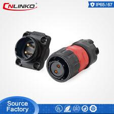 CNLINKO 9 Pin M16 Size Power Signal Connector Female Dock Plug Waterproof IP67