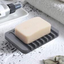 US Stylish Camo Shower Soap Holder Dish Plate Water Draining Soapbox Flexible