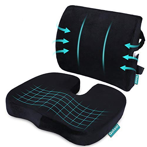 Buy Coccyx Orthopedic Seat Cushion And Lumbar Support Pillow For Office Chair Memory Foam Car Seat Cushion With Washable Cover Ergonomic Desk Chair Cushion For Tailbone Lower Back Pain Sciatica Relief Online