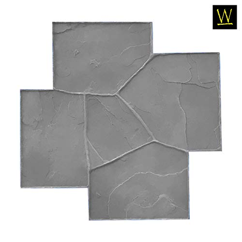 Rugged Flagstone Paver Decorative Pattern Sturdy Polyurethane Texturing Mat Single Realistic Detail Canyon Stone Concrete Stamps for Borders by Walttools