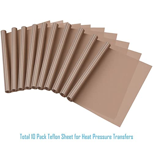 White 4 Pack, 16x20 Teflon Heat Press with Thickness of 0.11mm