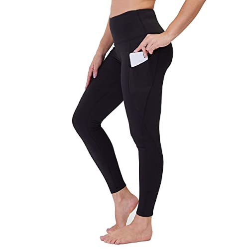 Hopgo Womens High Waisted Workout Yoga Pants with Pockets Tummy Control Running Leggings 4 Way Stretch