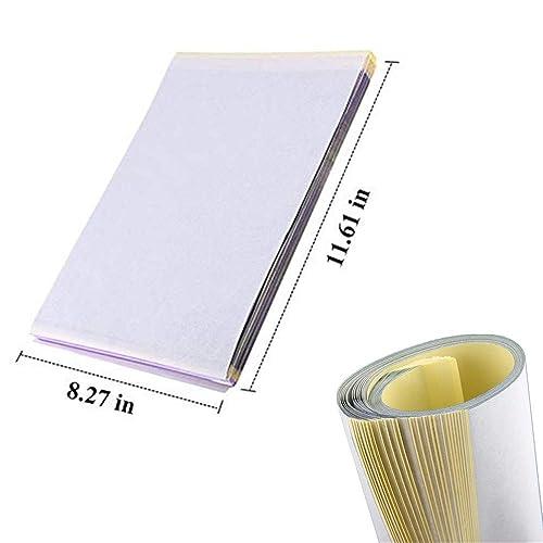 25Pcs Tattoo Transfer Paper,Tazay Tattoo Stencil Paper 4 Layers 8.5 X 11 Thermal Transfer Paper for Tattooing Copy Carbon Paper Tattoo Supply Accesories