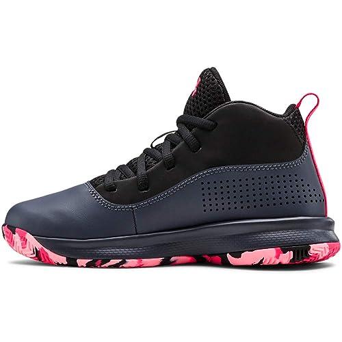 //Black 3.5 Under Armour Unisex-Kids Pre School Lockdown 4 Basketball Shoe 001