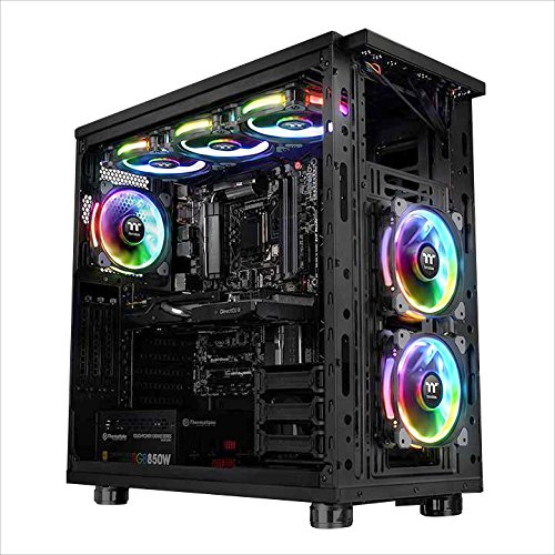 Thermaltake CL-F059-PL12SW-A Riing Plus 12 RGB TT Premium Edition 120mm Software Enabled Circular 12 Controllable LED RGB Riing Case//Radiator Fan Single Pack