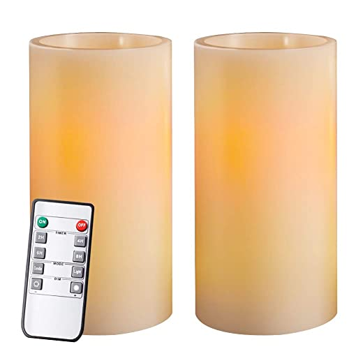 """ghdonat.com Battery Operated Set of 3 H 5""""6""""7"""" x D3""""- Moving Flame ..."""