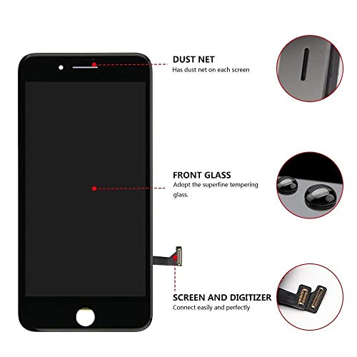 Black Compatible with iPhone 8 Screen Replacement Black COASD LCD Digitizer Touch Screen Assembly Set with 3D Touch Model No.A1863//A1905//A1906