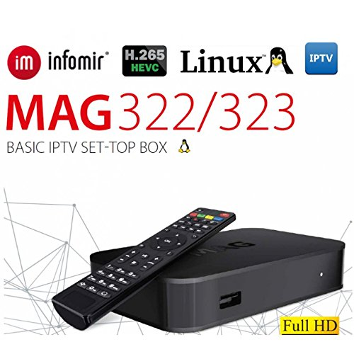 Remote HDMI Cable Power Adapter Battery Infomir MAG322 IPTV Box No Built-in WiFi