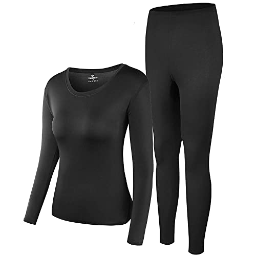 Artfish Ladies Womens Ultra Soft Thermal Underwear Long Johns Set with Fleece Lined