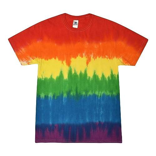 3X 100/% Cotton Colortone Eternity Long Sleeve Tie Dye T-Shirt Adult S