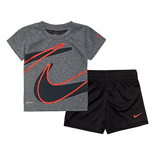 Red, 5 Nike Toddler Boys Dri Fit Short Sleeve T-Shirt and Shorts 2 Piece Set