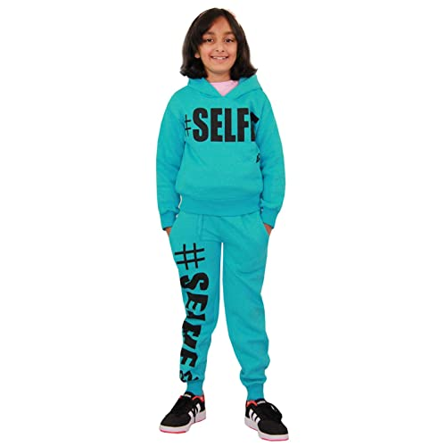 A2Z 4 Kids/® Kids Girls Boys #Selfie Tracksuit Hooded Hoodie Bottom Jog Suit Joggers New Age 5 6 7 8 9 10 11 12 13 Years