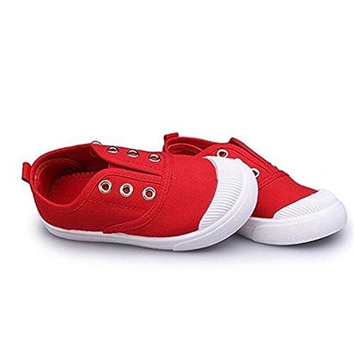 DADAWEN Boys Girls Canvas Light Weight Slip-On Sneakers Running Shoe