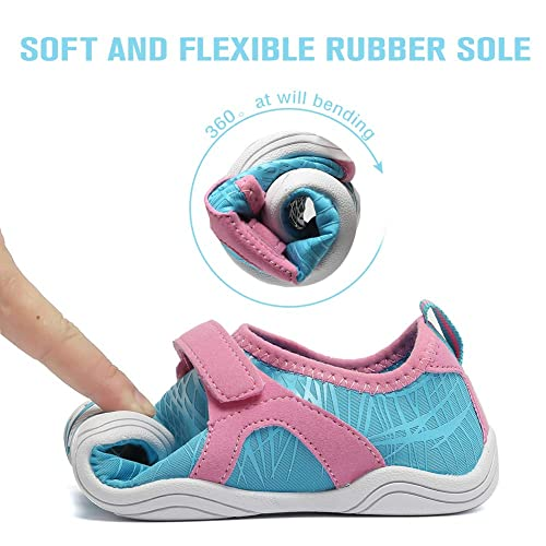 U319SSX001 WALUCAN Girls /& Boys Water Shoes Aqua Shoes Athletic Sneakers Lightweight Sport Shoes Toddler//Little Kid//Big Kid
