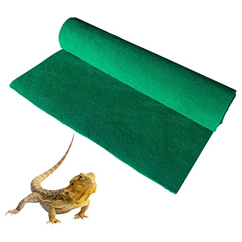 2 Pack Tfwadmx 39 X 20 Reptile Carpet Mat Substrate Liner Bedding Reptile Supplies for Terrarium Lizards Snakes Bearded Dragon Gecko Chamelon Turtles Iguana
