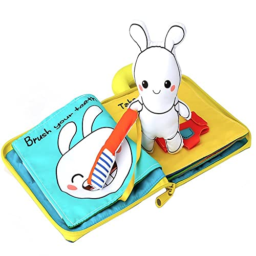 SUPOW Soft Cloth Books Fluffy Tails Funny Animal Tails Cloth book Baby Toy Cloth Development Books for 3~24 Month Baby