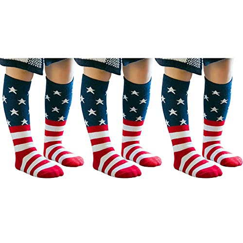 High Elasticity Girl Cotton Knee High Socks Uniform All Countries National Flag Women Tube Socks