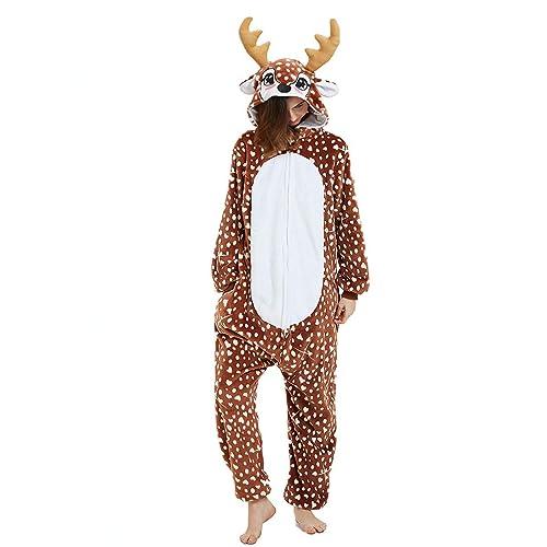 CASABACO Easter Bunny Rabbit Onesie Adult Women Pajama Animal Costume Men Halloween Christmas