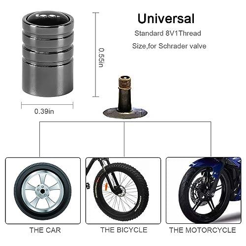 eXeAuto Tire Valve Caps,4pcs Anti-theft Chrome Car Wheel Tire Valve Stem Cap for White Mercedes Benz