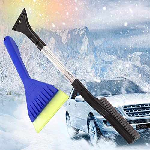 Heavy Duty ABS, PVC Brush AstroAI Ice Scraper /& Snow Brush Detachable with Ergonomic Foam Grip for Car