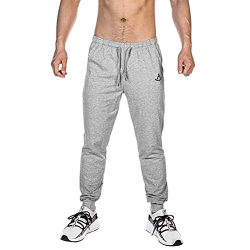 Musgneer Mens Gym Training Jogger Pant Running Workout Trousers Slim Fit Sweatpant with Zipper Pockets