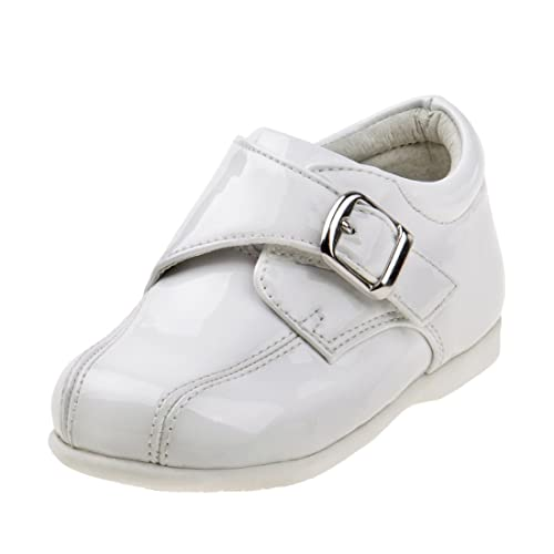 Josmo Girls White Patent Buckle Mary Janes Dress Shoe Infant Size 1 to Toddler 6