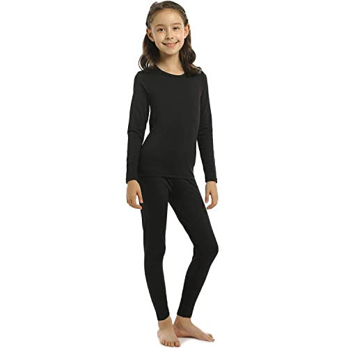 Fruit of the Loom Boys Girl Thermal Underwear Set Black size Extra Small XS 4//5