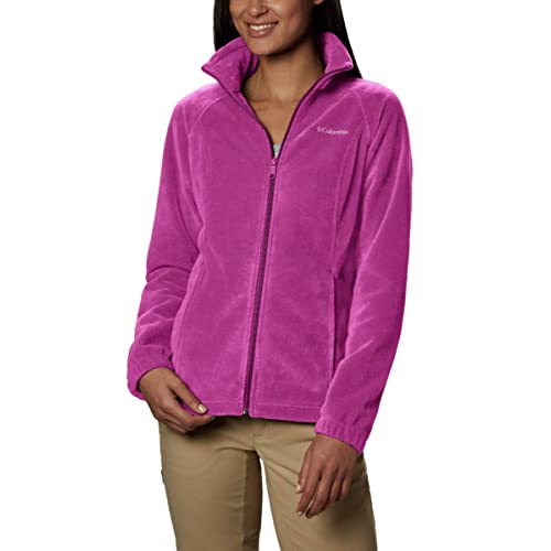 Petite X-Large Soft Fleece with Classic Fit Columbia Womens Benton Springs Full Zip Jacket Fuchsia
