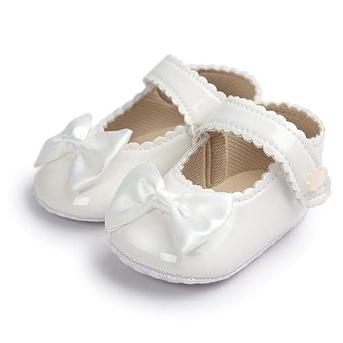 Weixinbuy Baby Girls Anti-Slip Love Heart Princess Mary Jane Flats Crib Shoes