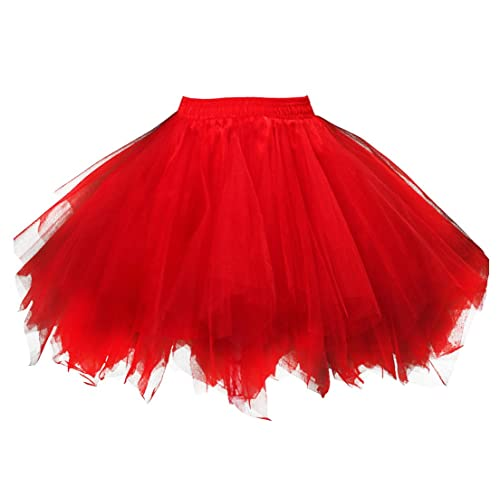 Women/'s Petticoat Slips Tulle Ballet Bubble Tutu Skirt Adult Party Costume New