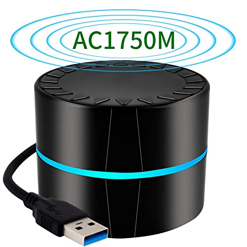 Long Range Wi-Fi Adapter,Compatible with Windows XP//7//8//8.1//10 4x3dBi External Antennas Mac OS 10.6~10.13 AC1900 WiFi Adapter USB 3.0 1900Mbps Dual Band with 2.4G 600Mbps//5.8G 1300Mbps
