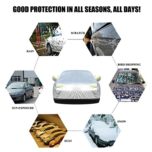 Full Size Breathable Cover Fit Sedan Car up to 200 Inch Long Bliifuu Sedan Car Cover UV Protection Car Cover for Outdoor Indoor Waterproof//Windproof//Snowproof