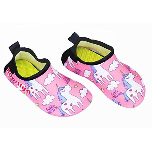 Kids Toddler Water Shoes Non-Slip Dinosaur Unicorn Swim Shoes for Boys Girls Pool Beach 11-11.5 Little Kid, Jellyfish Shark
