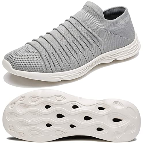 Anbenser Mens Walking Shoes Lightweight Knit Athletic Shoe Non-Slip Sneakers Size 7-15