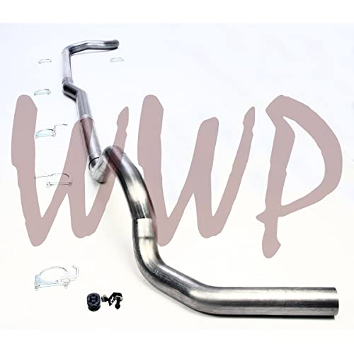 All Cab /& Bed Length Performance Racing Off Road SS409 Stainless Steel Dual 4 Turbo Back Exhaust System 2 Black Tips Included For 1994-1997 Ford F250 F350 Turbo Diesel 7.3L Pickup Truck