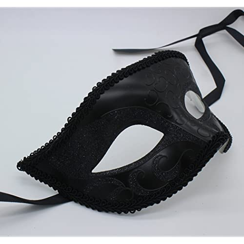 2 Pack Couples Masquerade Mask Set Venetian of Realistic Silicone Masquerade Half face Mask
