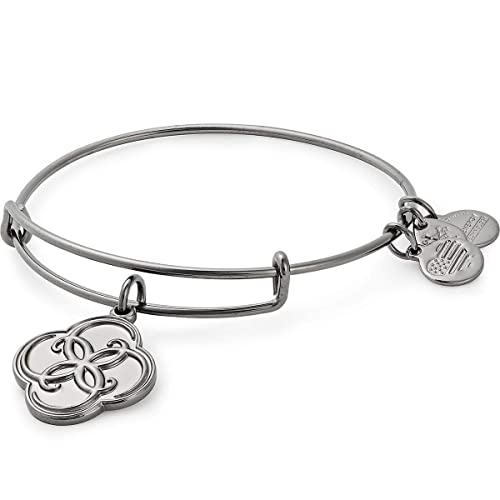 Alex and Ani Evil Eye Bangle Bracelet Midnight Silver NWTBC