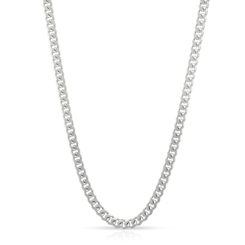 Solid 925 Sterling Silver Italian 1.8mm Cuban Curb Link Chain Necklace 16-30