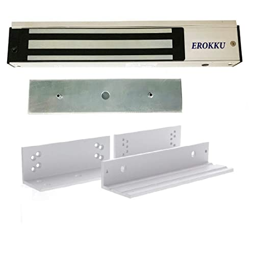 Pbzydu Electromagnetic Single Door Locks 280kg Strong Holding Force Access Control Kit with LED Light DC 12V