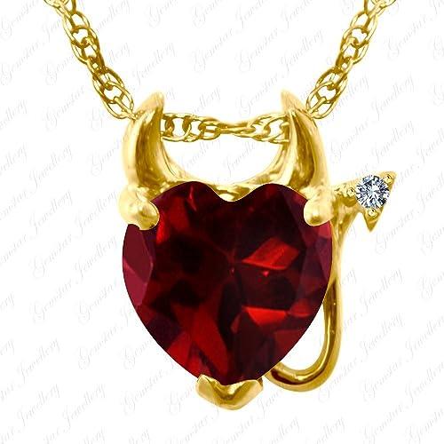Gemstar Jewellery Red Garnet /& White Simulated Diamond 18K Yellow Gold Fn Screw Back Halo Stud Earrings