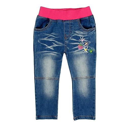Vigoss Big Girls Stretch Floral Straight Leg Skinny Jean Grey Floral
