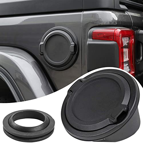 JeCar Gas Cap Fuel Door Gas Tank Cover for 2018 Jeep Wrangler JL 2-Door 4-Door
