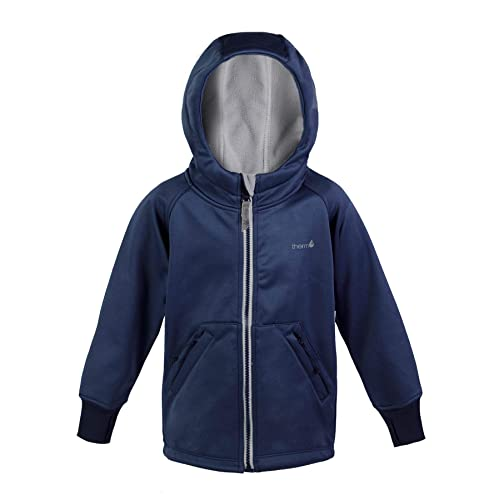 Blue Green Red Therm Boys Rain Jacket Toddler Kids Youth Lightweight Raincoat with Magic Pattern Fleece Lined