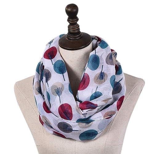 JOKHOO Winter Soft Knit travel scarf Infinity Scarf,with Secret Hidden Zipper Pocket